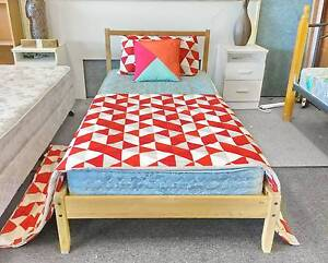 TODAY DELIVERY Single wooden bed & COMFORT mattress SALE NOW Belmont Belmont Area Preview