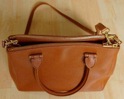 Lauren Ralph Lauren Tasche Newbury Handtasche hell braun Reißverschluss