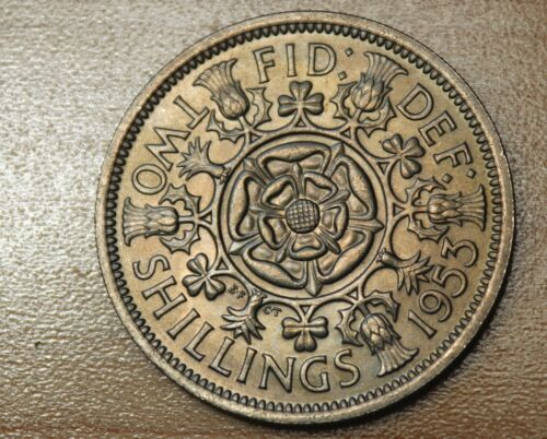 1953 Great Britain Florin, Two Shillings