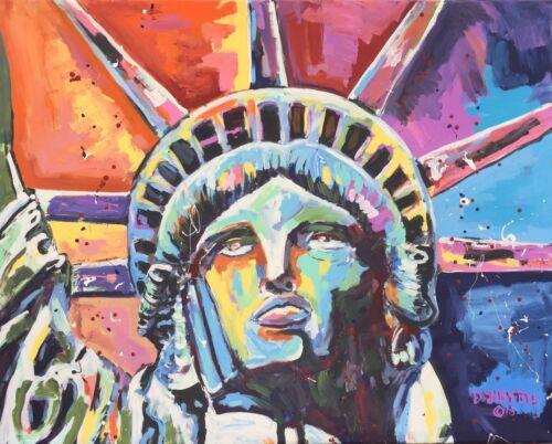 Statue of Liberty Original Modern Pop Art Painting Dan Byl New York Huge 4x5ft