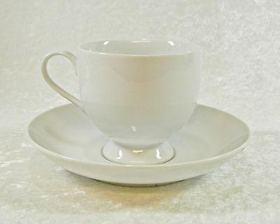 MIKASA FINE CHINA CLASSIC FLAIR WHITE CALLA LILY CUP & SAUCER SET Classic Flair White Cup