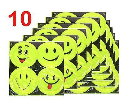 Big Emoji Stickers (40 (4*10) Big Emoji Plastic Reflective Sticker Glisten Waterproof Car)