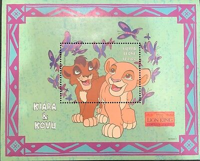 Sierra Leone- Disney Lion King- Kiara and Kovu Souvenir Sheet