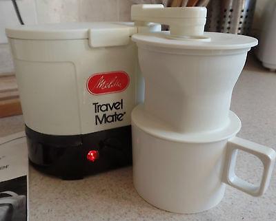 Vintage TRAVELMATE Portable MELITTA Compact Coffee MAKER w CANVAS Bag & MANUAL