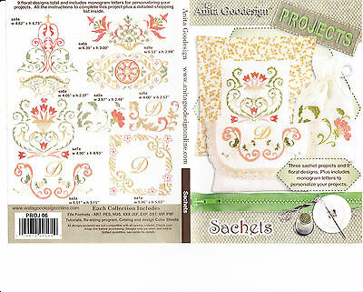 Anita Goodesign Sachets Embroidery Machine Design CD