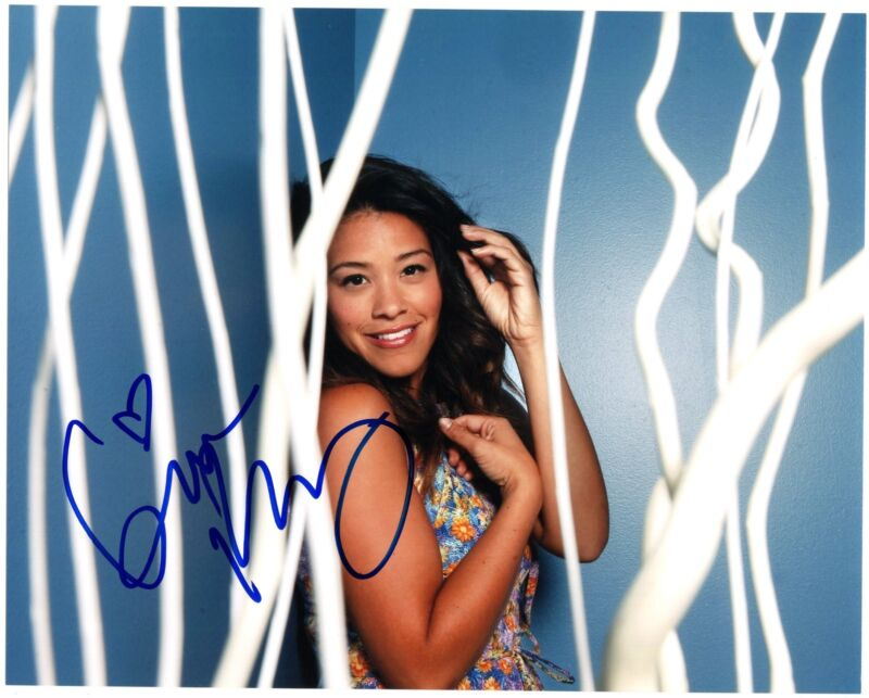 Gina Rodriguez Jane the Virgin Filly Brown Signed 8x10 Photo w/COA #2
