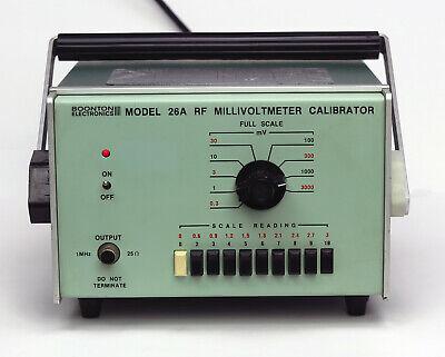 Boonton Electronics 26a Rf Millivoltmeter Calibrator 1 Mhz Standard Output