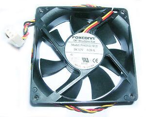 Foxconn 80mm ( 8cm )  Internal 12V DC 0.2A PC Case CPU Quiet Cooling Fan 3 Pin