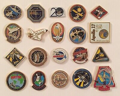 LOT of 20 NASA LAPEL PINS Space Shuttle STS Missions Apollo Mars Rover Skynet ++ Space Shuttle Mission Pin