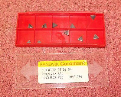 Sandvik  Carbide Inserts  Tcgr 521 Grade 1025
