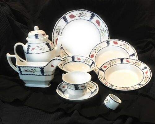 Adams LANCASTER Hand-Painted English Ironstone  ~ Large Multi-piece Collection
