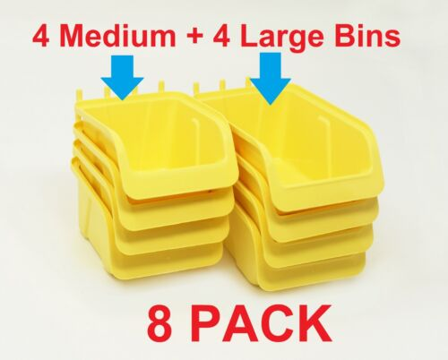 8 Pcs Pegboard Bin Kit Parts Storage Craft Organizer Tool Workbench Accessories