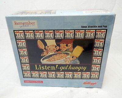 1C Pressman Snap Crackle Pop Kellogg's Rice Crispies 1000 Pc Puzzle SEALED - Crispy Puzzle