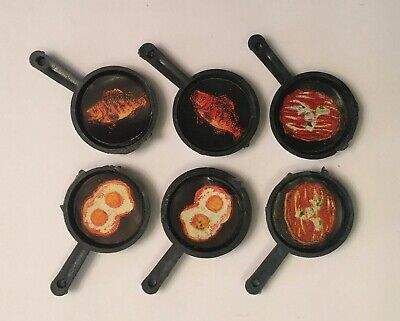 Vintage 60's Miniature Frying Pan Plastic Novelty Toys - Warehouse Store Stock (Novelty Warehouse)
