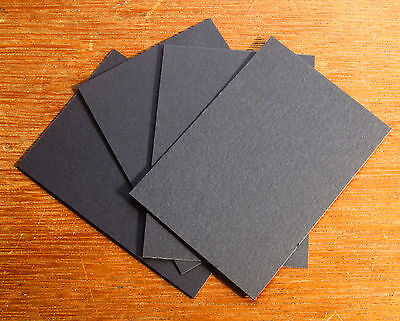 ACEO Black Artist Trading Card Blanks 110 lb High Quality Paper 2.5 x 3.5 ATC