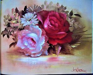 Magic of Floral Painting Pattern Book Gary Jenkins Flower Rose  - Unused