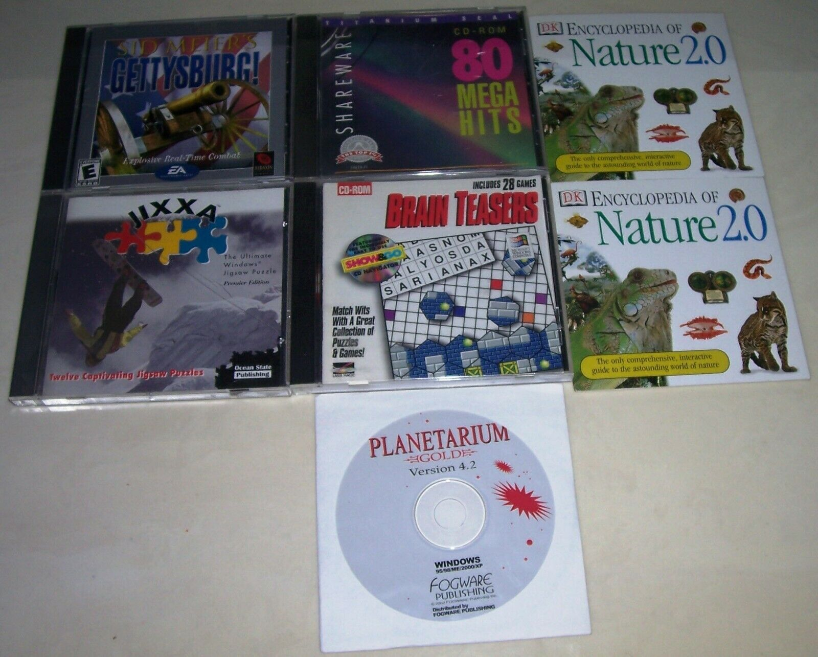 Computer Games - PC C-ROM COMPUTER VIDEO GAME AND EDUCATIONAL 7 CD LOT GOOD SHAPE