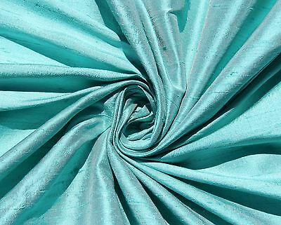 Robin's Egg Blue 100% Dupioni Silk Fabric Yardage By the Yard Quilt Sew - Robin's Egg