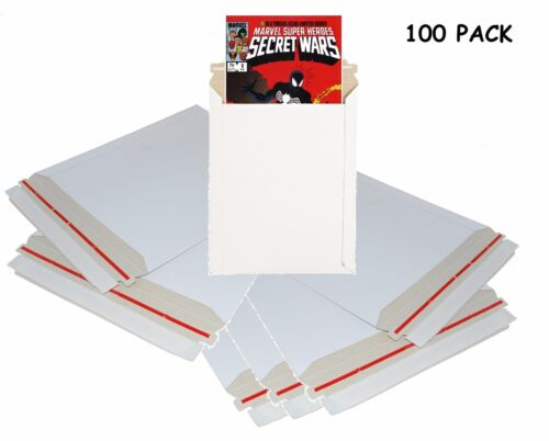 """Comic Book Shipping Mailers 100 Pack 9x11.5"""" Strong Cardboard Flat Envelopes"""