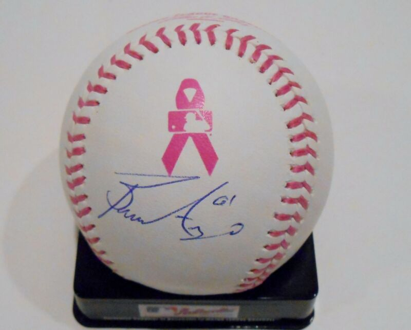 Bronson Arroyo Signed 2013 Mother's Day Breast Cancer Baseball w/COA Reds