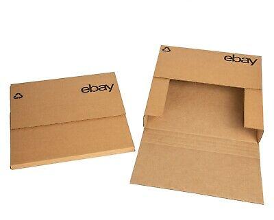Ebay-branded Boxes With Black Color Logo 12.5x12.5 Flat Adjustable