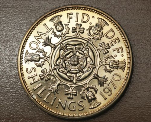 1970 Great Britain 2 Shillings Florin Proof