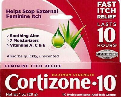 Feminine Relief - Cortizone 10 Maximum Strength Feminine Relief 1% Hydrocortisone Anti-Itch 1 OZ.