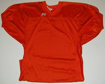 Russell Athletic Orange Football Jersey Cuff Sleeve - Adult Large