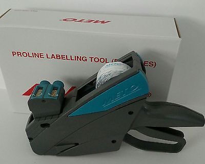 Meto Price Label Gun Model 15.22 2 Line 15 Digit 8 Upper 7 Lower