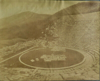 Epidaurus Greek Theater unidentified photographer Vintage Albumen photo, c. 1880