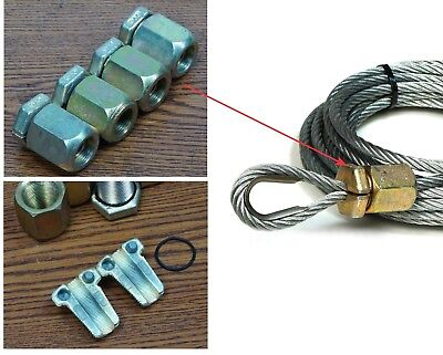 """4X 5/16"""" Wire Rope Safe-Line Clamp MS16843-4, great for Winch Cable Loop Repair"""