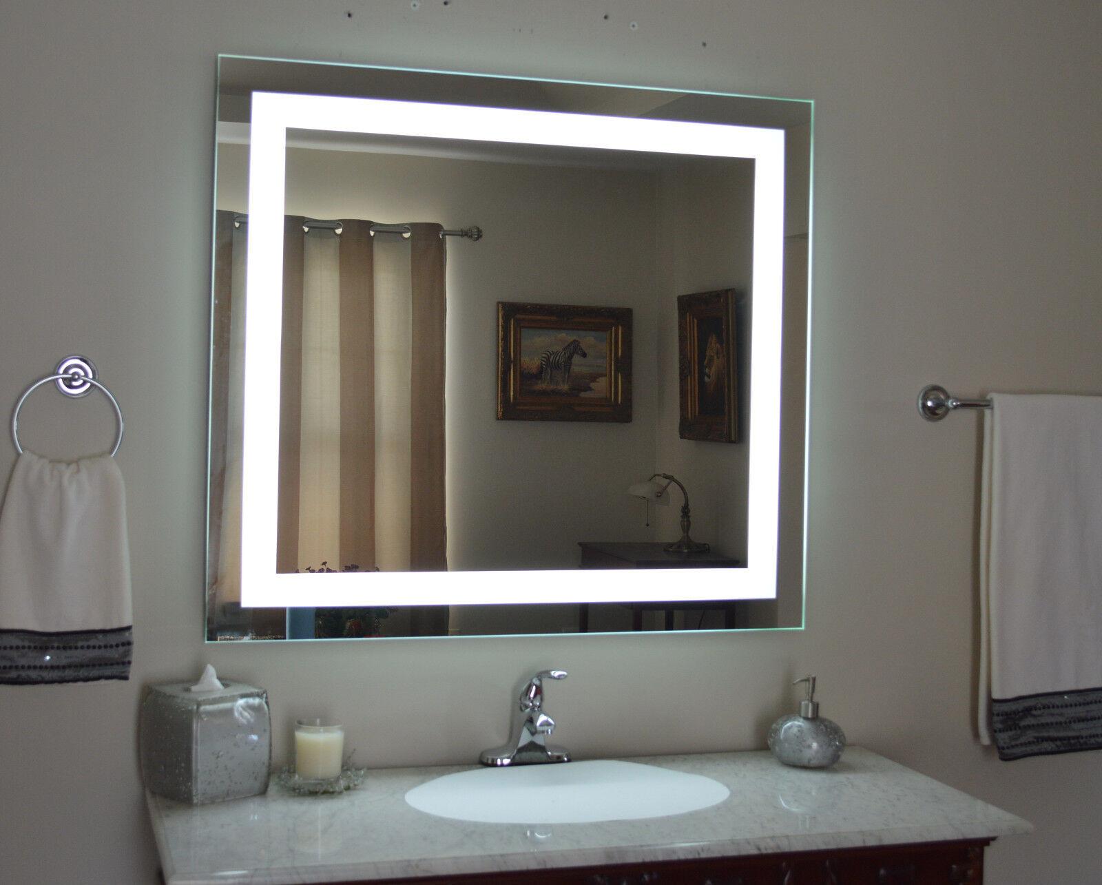 "Lighted Bathroom Vanity Mirrors lighted bathroom vanity mirror, led , wall mounted, 48"" wide x 36"