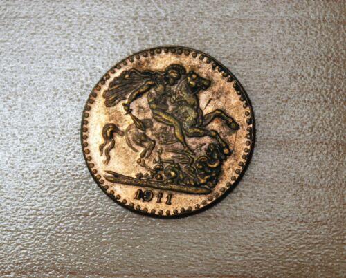 1911 George V Dragon Slayer Coronation Coin 18mm 2g