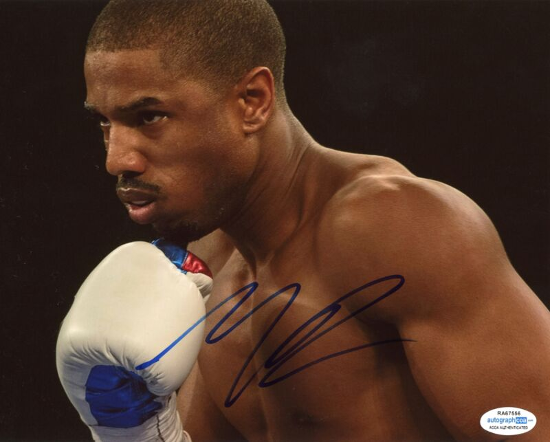 "Michael B. Jordan ""Creed"" AUTOGRAPH Signed 8x10 Photo D ACOA"