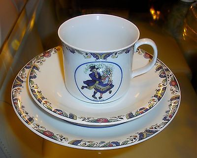 RORSTRAND Sweden Smaland Swedish National Costumes CUP SAUCER & PLATE TRIO SET