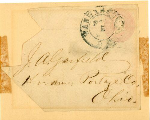 James Garfield signed envelope.