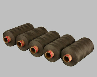 FIVE SPOOLS 120s SEWING THREAD BROWN / TAUPE 1,000 METRE SPOOLS GOOD QUALITY