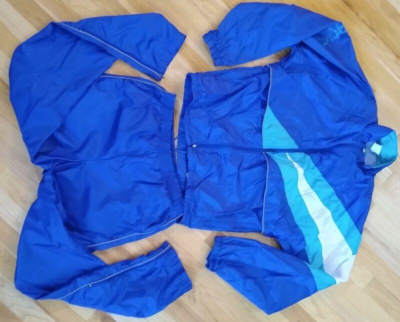 Vintage 80s 90s Asics 2 Piece Tracksuit Windbreaker Jacket Pants Women