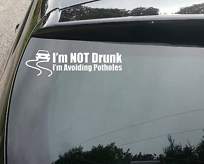 Avoiding Potholes Funny Car/Window JDM VW EURO Vinyl Decal Sticker