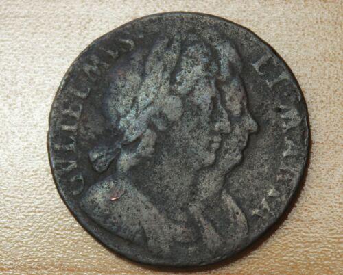 1694 Great Britain Half Penny William & Mary