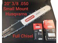 50cm SWS Forst Schwert mit 3 HM Sägeketten 325 1,5mm 78TG p.f Husqvarna 254XP