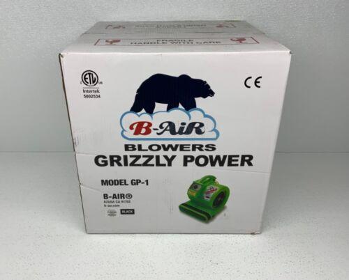 B-Air Grizzly Power 1-HP Heavy Duty Floor Fan Air Blower GP-1 3550 CFM, (Black)