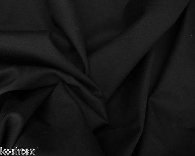 Black Cotton Twill Spandex Fabric By The Yard  4 Way Stretch  Chino Pants