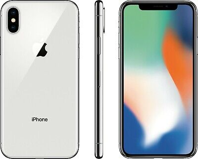 Open Box Apple iPhone X - Silver - A1865 - AT&T T-Mobile Sprint Verizon Unlocked