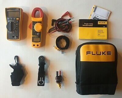 Fluke 116322 Multimeter And Amp Clamp Set Hvac Combo Kit