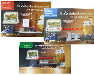 Minitruck Biertruck Brauereitruck - Kulmbacher 3er-Set Brauerei zum Selbstaufbau