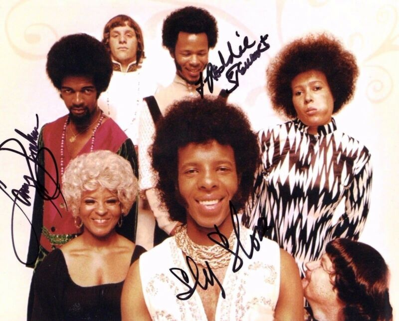 GFA Freddie & Sly * SLY AND THE FAMILY STONE * Signed 8x10 Photo PROOF S3 COA