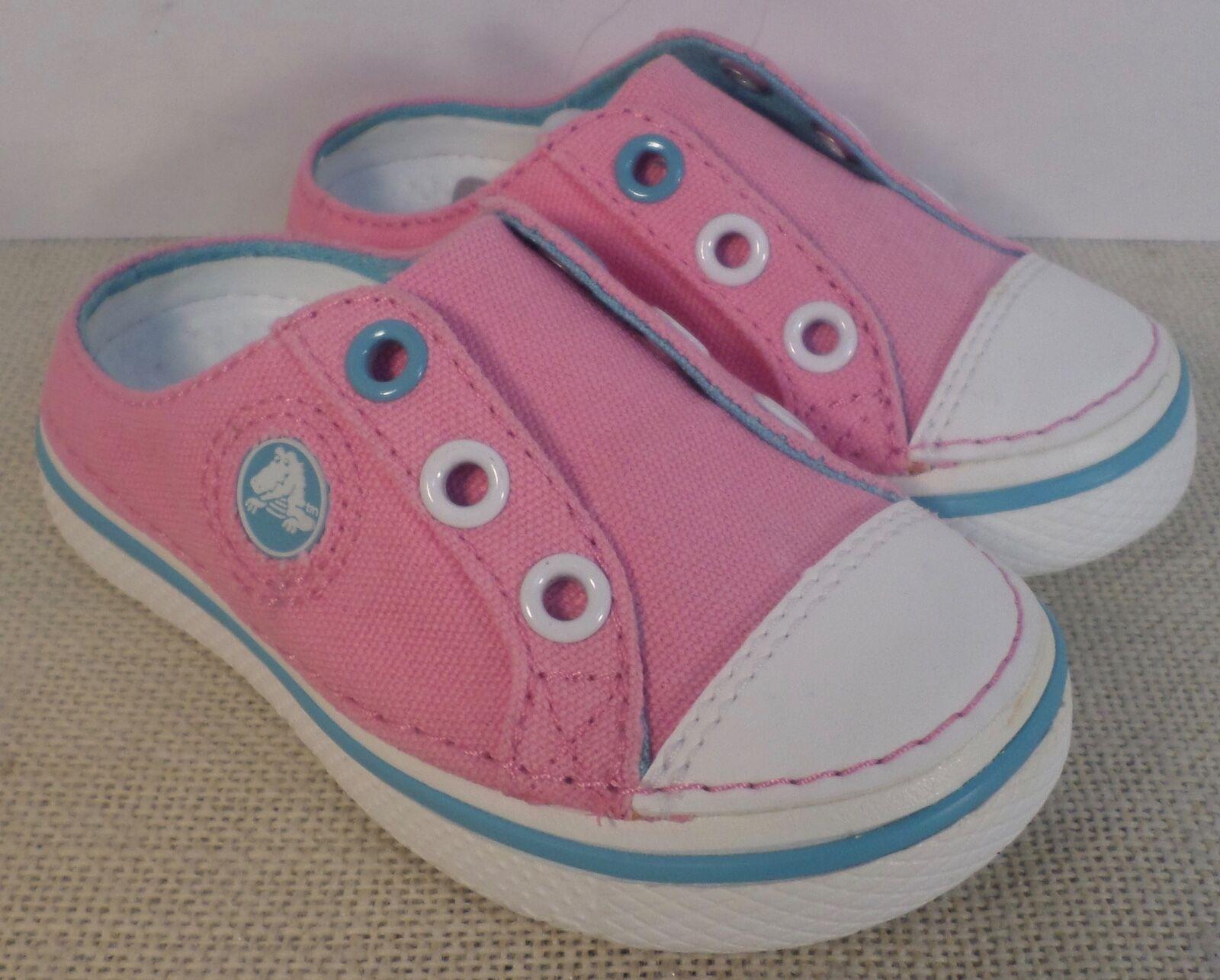 CROCS INFANTS HOVER SLIP ON CLOG PINK LEMONADE AQUA SHOES NEW WITH TAGS