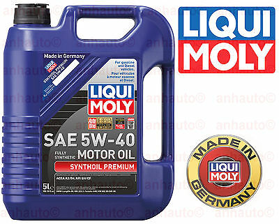 - 5-Liter Liqui Moly  Synthoil   Full Synthetic  Motor Oil 5W-40 (#2041)