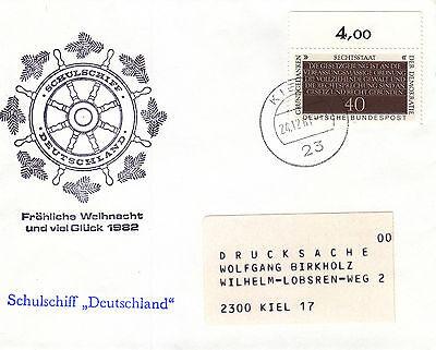 Schiffspost Schulschiff Deutschland Weihnachten 1981